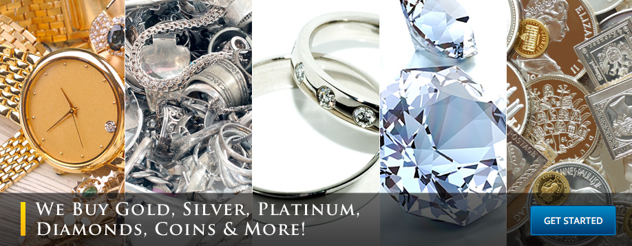Cash for Gold, Silver, Platinum, Diamonds, Coins, Fine Watches, & More